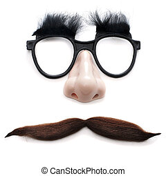 man with glasses and mustache - glasses, nose and mustache...
