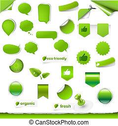 Big Green Symbols Set