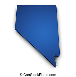 Map Of Nevada 3d Shape - Shape 3d of Nevada map colored in...