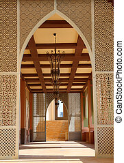 Traditional arabian architecture in Doha, Qatar, Middle East
