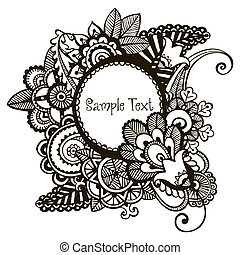 Hand drawn vector frame - Hand drawn vector frame with...