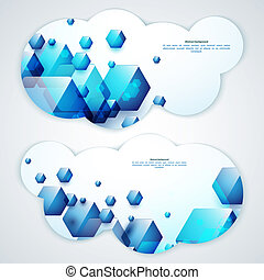 Set of abstract vector banners Vector illustration for your...