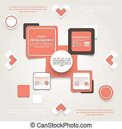 Modern design infographic template. Numbered banners. -...
