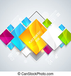 Abstract glossy geometric background. - Vector illustration...