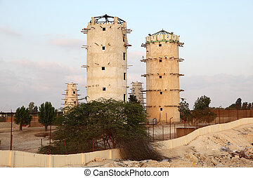 Pigeon towers in Qatar, Middle East