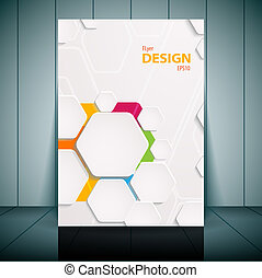 Abstract flyer vector template. Vector illustration for your...
