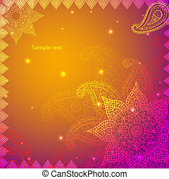 Gold Indian Vintage Ornament EPS10 Design Vector...
