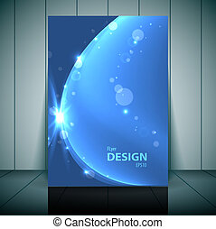 Blue Business Flayer Template Vector illustration for your...