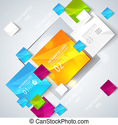 Abstract glossy geometric background - Use visit cards,...