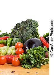 Parsley and fresh vegetables - Parsley and many fresh...