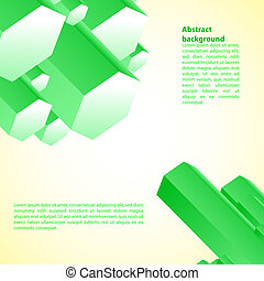 Cristal green prism. Vector illustration for your business presentation