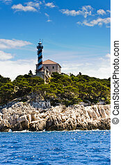 Watchtower on a cliff above the Adriatic sea