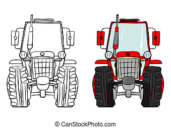 Tractor - Cartoon tractor