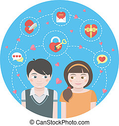 Dating Round Concept