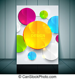 Professional business flyer template or corporate banner...
