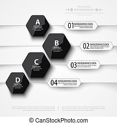 Modern infographics bubble speech template style. - Vector...