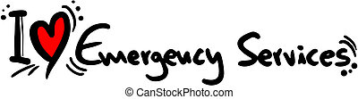 Emergency services love - Creative design of emergency...