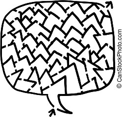 Form maze - Creative design of form maze