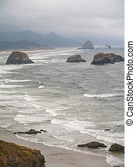 View of the Oregon Coast from Ecola State Park