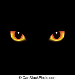 Cat Eyes, With Gradient Mesh, Vector Illustration