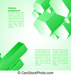 Cristal green ice background. Vector illustration for your...