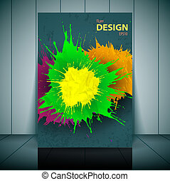 Vector dental brochure, flyer, magazine cover & poster template