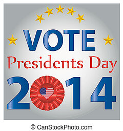 president day - some blue text with stars and textures for...