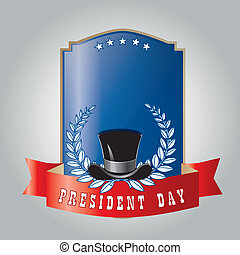 president day - a colored icon with a black hat and olives...