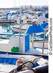 Javea in alicante fisherboats in Mediterranean sea of Spain