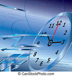 Abstract digital clock background,time concept