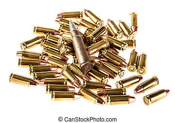 montón, balas