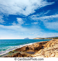 Ifach Penon view from Moraira alicante in Mediterranean...