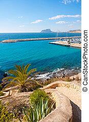 Ifach Penon view from Moraira alicante in Mediterranean...