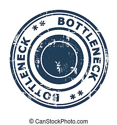 Bottleneck concept stamp isolated on a white background