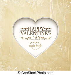 Happy valentine's day background with heart.