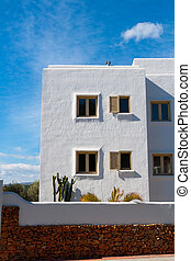 White Mediterranean houses in Javea alicante at spain