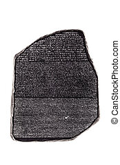 rosetta stone - a reproduction of the famous rosetta stone...