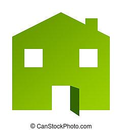 Green house with open door
