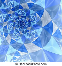 Abstract spiral art backdrop on white background