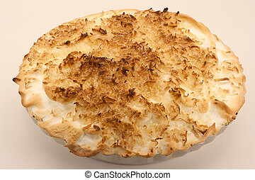 Toasted Coconut Cream Pie - Great Grandma's homemade toasted...