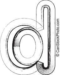 Grunge Font. Letter d