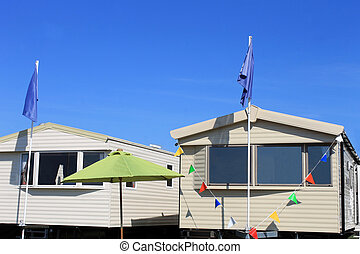 New caravans on trailer park - Exterior of two new caravans...