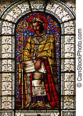 Saint Martin, stained glass