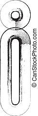Grunge Font. Letter i