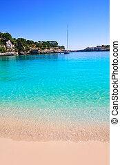 Porto Cristo beach in Manacor Majorca Mallorca Balearic...
