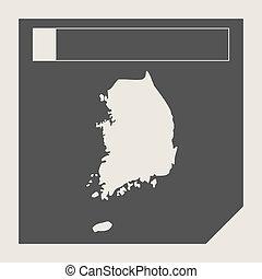 South Korea map button
