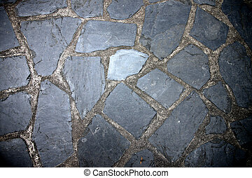 Texture of Pathway made from Rock.