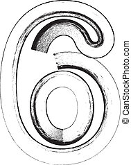 Grunge Font Number 6