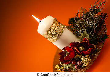 centerpiece - a beautiful ornated christmas centerpiece with...
