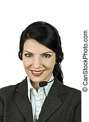 Support operator or helpdesk - Portrait of beautiful...